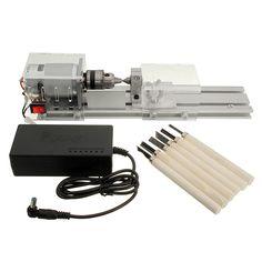"Raitoolâ""¢ DC 24V 96W Mini Lathe Beads Saw Machine Set Woodworking DIY Beads Polishing Cutting Drill"