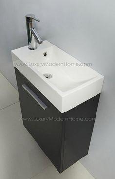narrow depth bathroom vanity