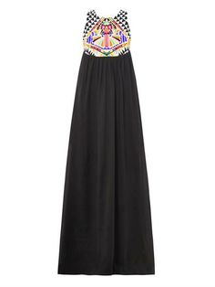 Cosmic Fountain embroidered maxi dress | Mara Hoffman | MATCHE...