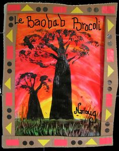 Présentation Baobab Brocoli - Visual steps for creating this baobab tree Le Baobab, Baobab Tree, Classroom Art Projects, Projects For Kids, Africa Craft, Afrique Art, Animal Art Projects, African Theme, Globe Art