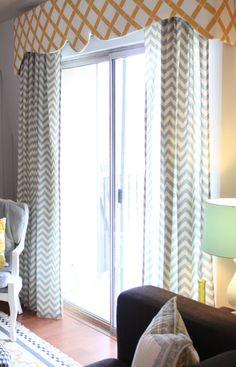 danielle oakey interiors: pelmet box opinions welcome Door Window Treatments, Window Coverings, Pelmet Box, French Door Curtains, French Doors, Sliding Glass Door, Sliding Doors, Windows And Doors, Girl Room