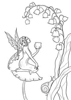 Fairy Coloring Pages. 120 Free Printable Beautiful Fairy Coloring Pages
