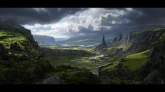This clip shows several steps in the making of a concept painting and a matte painting. The last frame shows the detailed matte painting whereas the step before…