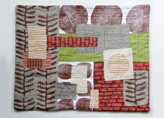 Untitled 4 , textile collage by Jen Hewett.