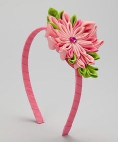 Take a look at the Double Pink Flower Burst Headband on #zulily today!