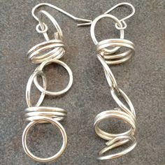 Sterling Silver Sculptural Earrings