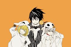 L, Mello and Near - Death Note
