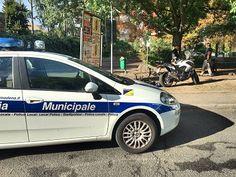 Ancora controlli della Polizia Municipale di Cesena nella zona Stadio per la partita con il Cittadella