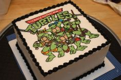 """Teenage Mutant Ninja Turtles and the Secret of the Oozing Buttercream Event: """"That Takes The Cake"""" 2011 Annual Sugar Art Show & Cake . Ninja Turtle Party, Ninja Turtle Birthday Cake, Turtle Birthday Parties, Ninja Turtles, Birthday Ideas, 4th Birthday, Birthday Cakes, Tmnt Cake, Cute Cakes"""