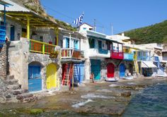 Fishing houses in Klima, Milos island