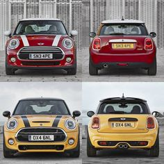The front and the rear of the new 2014 MINI F56 (Cooper and Cooper S). #minicooper #new