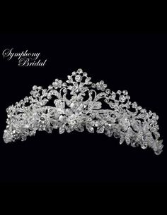Regal Symphony Bridal 4907CR Royal Wedding Tiara  - just stunning!  Would be so elegant for your quinceanera! - Affordable Elegance Bridal -