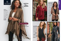 Avon puts the PASSION in FASHION! Did you know we carry a line of Avon Signature Collection clothing as well as our own  Cushion Walk Footwear products? It's Great! Take a look at some of our current Avon Fashions at the current PJ's Avon brochure pricing. Place Your Order today 847-995-1872 or Order Online at www.youravon.com/pjack (Prices/Sales May be Different Online)
