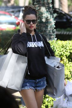 Adriana Lima doing Christmas Shopping at Ball Harbor in Miami, December HQ. Body Poses, Brazilian Models, Christmas Shopping, Bellisima, Fashion Beauty, Women's Fashion, Bomber Jacket, Victoria Secret, Actresses