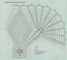 Схема к салфетке с геометрическим узором.