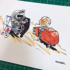 commission of lilkylo and lilrey in custom soapbox racers  @briankesinger's twitter /// Instagram /// tumblr