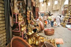 Get a souvenir from the century-old institution of Baghdad's copper market, Safafer Souk.