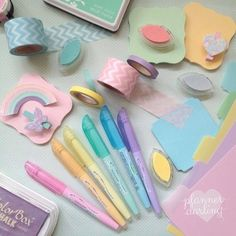 Pastel planner supplies & goodies! (chelley barnsley Darling on Instagram) #stationery #planner
