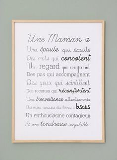 Exclusive poster a MOM Affiche Exclusive Une Maman A Jolie Phrase, Online Magazine, Quote Citation, Mothers Day Quotes, Positive Attitude, Quotes Positive, Quote Of The Day, Letter Board, Affirmations