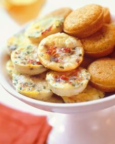 Mini frittatas and cornbread muffins -- late-night/early-morning reception snack?