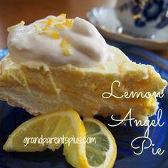 Lemon Angel Pie   grandparentsplus.com