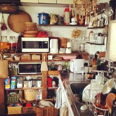 there's something so cozy about out-and-proud pantry clutter