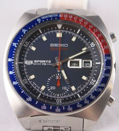 Seiko 6139-6000 from October of 1969 (happens to be my birth year and month too). Arguably the most common of the Speedtimer 600X cased variants, still not an easy watch to find in good shape as they were all JDM only. These were only made from around March 1969 to early in 1970. All of this particular model 6139 should have a two-piece seconds hand, notch above the crown in the case and the earlier 6139a movement. The Speedtimers received the 21 jewel movement rather than the 17 jewel.