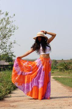Boho Skirt / Maxi Skirt / Maxi Boho Skirt /Modest Skirt / Beach Skirt /Full Length skirt / Tie Dye Skirt/ Long Skirt Modest Skirts, Boho Skirts, Beach Skirt, Beach Dresses, Drop Crotch Pants, Hippie Pants, Full Length Skirts, Summer Looks, Boho Dress