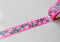 mt Washi Masking Tape - Retro Flower - Limited Edition.