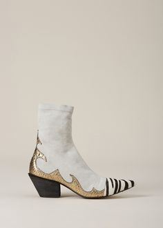 Haider Ackermann High Boot (White)