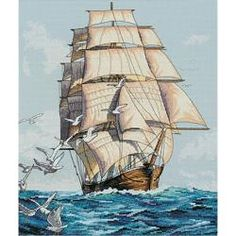 @Overstock - DIMENSIONS-Counted Cross Stitch.  Dimensions brings to you beautifully designed images in a vast variety of themes from baby to weddings; sympathy to inspirational and fun and quirky to seriously sentimental.http://www.overstock.com/Crafts-Sewing/Clipper-Ship-Voyage-Counted-Cross-Stitch-Kit-12-X14/6758844/product.html?CID=214117 $14.87