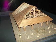 Autre vue, de la toute première maquette reconstituant la demeure de la Princesse de VIX... superbe !    Photo : Damkat, Aout 2011.