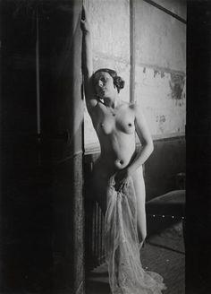 Girl at Cabaret Folies Bergeres, Paris, 1932 by Brassaï