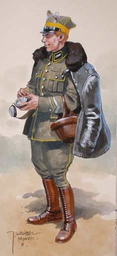 Polish officer, w rysunkach J. Military Art, Military History, World War One, First World, Army Gears, Russian Revolution, Red Army, War Machine, Saddles