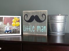 Pépinière moustache Wall Art petit homme disant par CASignDesign, $25.00