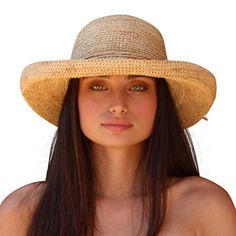 ae0096cc4f8bbd Palms & Sand Laguna Womens Sun Hat 100% Raffia Large Brim at Amazon Womens  Clothing store: