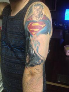 Dc sleeve batman and superman