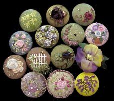 Covered Button Brooches