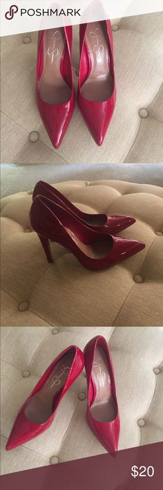 Red pumps Jessica Simpson red patent leather pumps Jessica Simpson Shoes Heels