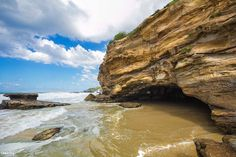 Cliffs and the main Cave - Caves beach, NSW