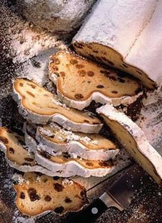 Stollen (German Christmas Bread) find German recipes in English @ www. Holiday Baking, Christmas Baking, Christmas Time, German Christmas Traditions, German Desserts, German Recipes, Christmas Bread, Think Food, English Food