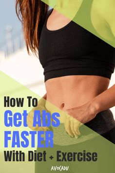 """The old adage """"Abs start in the kitchen"""" is 100% accurate. This is because no amount of crunches will reveal those sexy, toned abs you're looking for if your diet looks like crap. #Sorrynotsorry The good news is, that making changes to your diet can help you see results more rapidly than you would with exercising alone. So we've compiled our top exercises and diet tips to help you get abs faster in our latest article here! #avocadu #howtogetabs #flatbelly #losebellyfat #sixpackabs Fast Weight Loss Tips, Diet Plans To Lose Weight, How To Lose Weight Fast, Losing Weight, Get Abs Fast, How To Get Abs, Intense Cardio Workout, Workout Tips, Workout Challenge"""