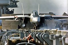 F-14A Tomcat ready to launch from the USS America