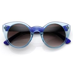 bef5af15cd667 Vintage inspired round cat eye glamour sunglasses that feature metal rivets  on the temples. Gato