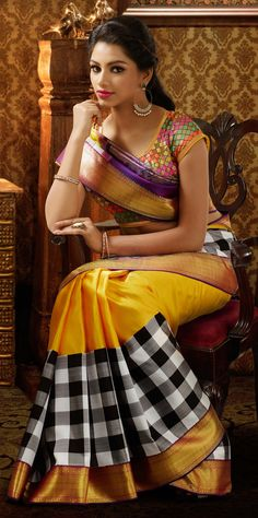 Magnificent Multicolor Silk Saree from The Chennai Silks