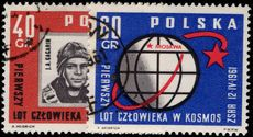 Poland 1961 First Manned Space Flight fine used.