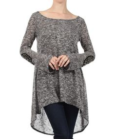 Look what I found on #zulily! Charcoal Embellished Hi-Low Tunic by J-Mode USA Los Angeles #zulilyfinds