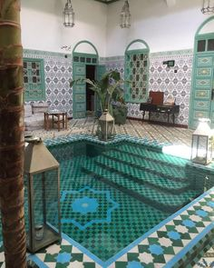 Inner pool can be solution for muslim sister to enjoy pool but not being seen.. Boutique Riad Be Marrakech