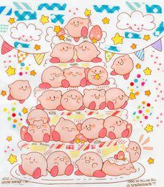 カービィ Kirby「おめでとう!!」/「スターストーン」のイラスト [pixiv]