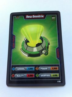 Ben 10 Alien Adventures 1/20 New Omnitrix Shiny 2009 Trading Card